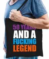 50 year legend 50 jaar legende cadeau tas zwart voor heren