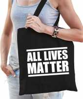All lives matter protest tas zwart voor dames