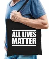 All lives matter protest tas zwart voor heren
