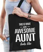 Awesome aunt tante cadeau tas zwart voor dames