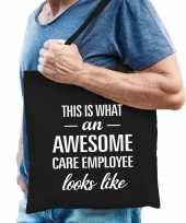 Awesome care employee zorgpersonele cadeau tas zwart voor heren