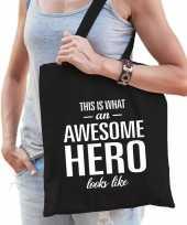 Awesome hero held cadeau tas zwart voor dames