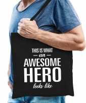 Awesome hero held cadeau tas zwart voor heren