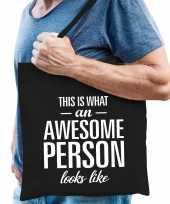 Awesome person persoon cadeau tas zwart voor heren