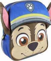 Blauwe paw patrol rugtas rugzak chase 23 x 28 cm voor jongens
