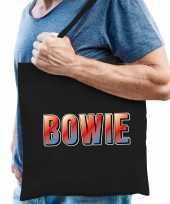 Bowie muziek fan cadeau tas zwart heren