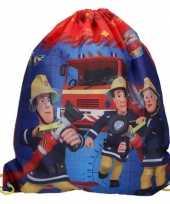 Brandweerman sam gymtas rugtas 37 x 44 cm voor jongens