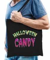 Halloween candy snoep cadeau tas zwart voor heren