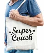 Katoenen cadeau tasje super coach