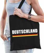 Katoenen duitsland supporter tasje deutschland zwart