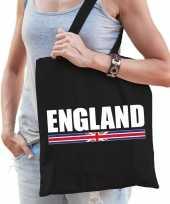 Katoenen engeland supporter tasje england zwart