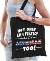 Not only perfect american amerika cadeau tas zwart voor dames