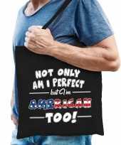 Not only perfect american amerika cadeau tas zwart voor heren