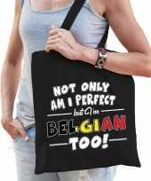 Not only perfect belgian belgie cadeau tas zwart voor dames