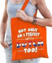 Not only perfect dutch nederland cadeau tas oranje voor dames