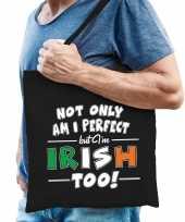 Not only perfect irish ierland cadeau tas zwart voor heren