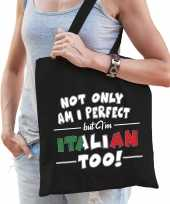Not only perfect italian italie cadeau tas zwart voor dames