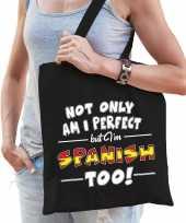 Not only perfect spanish spanje cadeau tas zwart voor dames
