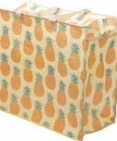 Opbergtas dekentas ananas print 55 x 48 cm