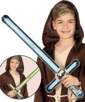 Opblaasbaar laser zwaard groen 69 cm