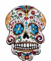 Opblaasbare day of the dead schedel 100 cm hangdecoratie