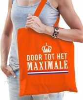 Oranje door tot het maximale tasje voor dames