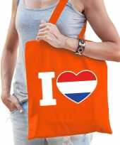 Oranje i love holland tasje voor dames