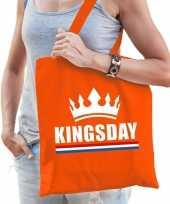 Oranje kingsday kroon tasje voor dames