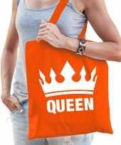 Oranje koningsdag queen kroon tasje voor dames