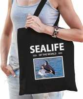 Orkas tasje zwart volwassenen en kinderen sealife of the world kado boodschappen tas 10265509