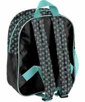 Paarden rugzak rugtas blauw zwart voor meisjes 28 x 22 x 10 cm