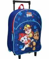 Paw patrol blauwe trolley reiskoffer rugtas voor kinderen