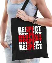 Respect voor de zorg tas zwart voor dames
