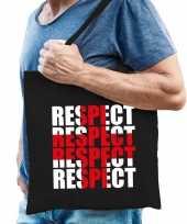 Respect voor de zorg tas zwart voor heren