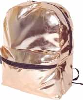 Rose gouden rugzak rugtas 43 cm voor meisjes