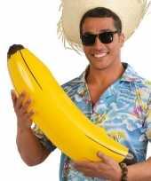 Set van 10x stuks opblaasbare banaan bananen 70 cm