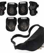 Set van heuptasje buideltasje zwart 38 cm en valbescherming maat s 4 tot 5 jaar
