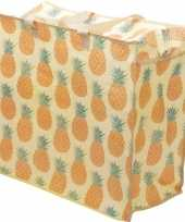 Speelgoed opbergtas opbergzak ananas print 55 x 48 cm