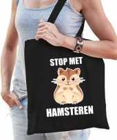 Stop met hamsteren tas zwart voor dames