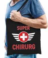 Super chirurg cadeau tas zwart voor heren