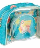 Toilettas make up tassen set eenhoorn unicorn voor kinderen