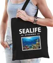 Vissen tasje zwart volwassenen en kinderen sealife of the world kado boodschappen tas