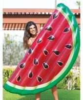 Watermeloen fruit opblaasbaar luchtbed 183 x 81 x 18 cm speelgoed